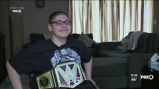 Wrestlemania fan gets superstar surprise