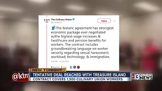 Culinary Union reaches agreement with Treasure Island