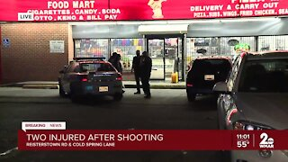 Two injured after shooting at Pizza Man in Baltimore