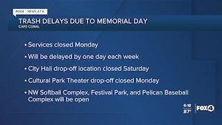 Cape Coral trash services closed Monday