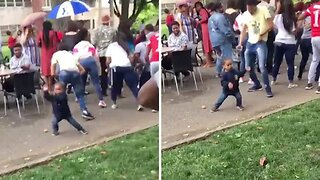 Hilarious Toddler Dances At University Rave Party