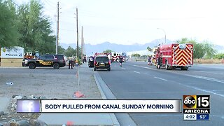 Body pulled from canal Sunday morning