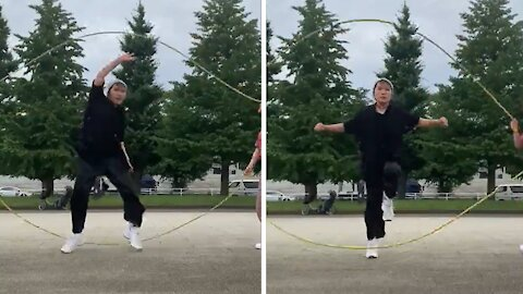Epic Double Dutch dance routine will blow your mind