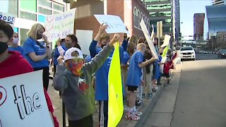 Rally for in-person learning in Fort Collins