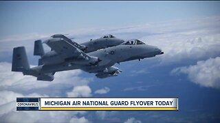 Michigan Air National Guard flyover Wednesday