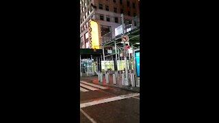Time Square NY Creepy Covid Abandoned