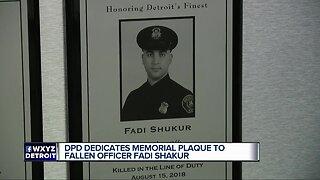 Detroit police honoring fallen officer Fadi Shukur