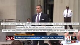 Eric Greitens fined by Missouri Ethics Commission for campaign finance violations