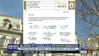 Pugh responds to City Council, says she will return