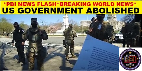The Abolishment of the U.S. Federal Government by THE PEOPLE