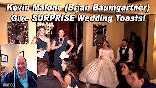 """Kevin Malone (Brian Baumgartner) from """"The Office"""" gives SURPRISE Wedding Toast!"""