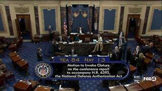 Trump vetoes defense bill