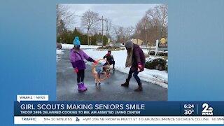 Girl Scouts making seniors smile