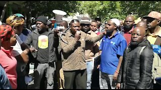 South Africa Cape Town - Refugees protest(Video) (SmQ)