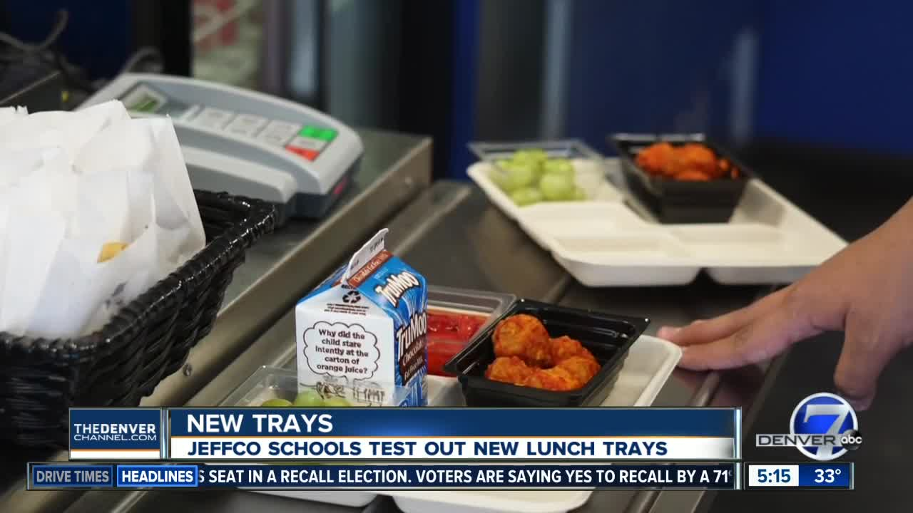 Jeffco Schools trying out new lunch trays