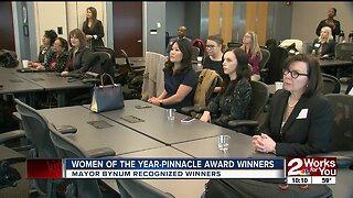 Mayor Bynum recognizes Women of the Year-Pinnacle Award winners