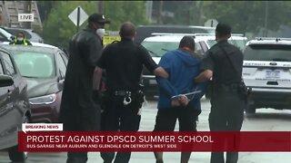 Protesters arrested during demonstration against Detroit summer schools