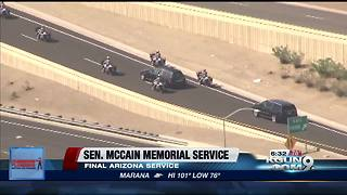 After church service, McCain to depart Arizona for last time