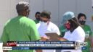 State workers protesting over conditions in Nevada