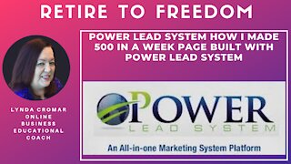 Power Lead System How I Made 500 In A Week Page Built With Power Lead System