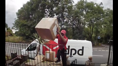 DPD Delivery Driver Throws Parcels In Incredible Footage Caught On CCTV!