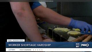 Restaurants experience worker shortages
