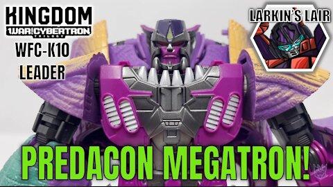 Transformers Kingdom Leader Megatron Review WFC-K10 (Retail Release), Larkin's Lair