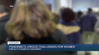 Pandemic's unique challenges for women