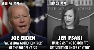 Psaki ADMITS Biden LIED When He Said Border Was Under Control
