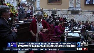 90-day legislative session begins in Annapolis
