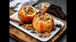 Cinnamon roll stuffed baked apple recipe