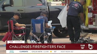 Challenges firefighters face