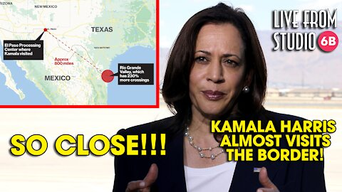 WOW! Kamala Harris ALMOST Visits the Border!!!