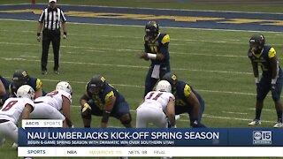 Spring football season starts with a bang for NAU