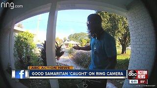 "Good Samaritan ""Caught"" on Ring Camera"