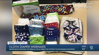 Diaper Bank launching cloth diaper webinar
