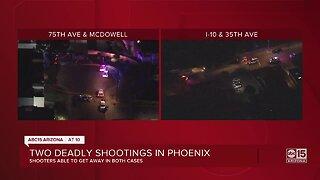 Two deadly shootings in Phoenix