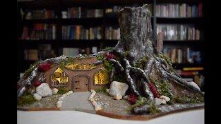 Winter Fairy Garden - Bookstore Part 2