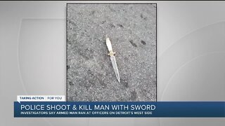 Police shoot, kill man with sword in Detroit