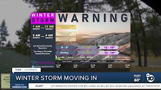 Winter storm coming to SD