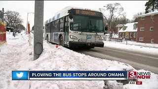 Plowing the bus stops around Omaha