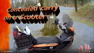 Concealed carry on a motorcycle/scooter