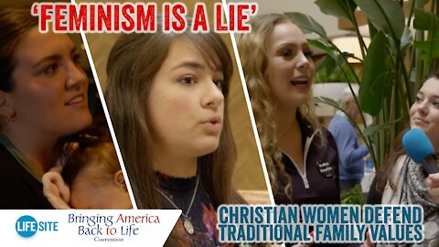 'Feminism is a lie': Christian women defend traditional family values