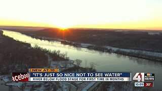 After record 279 consecutive days, Missouri River falls below flood stage