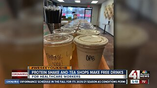 #WeSeeYouKSHB Protein shake, tea shops make free drinks