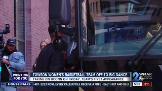 Towson's women's basketball team headed to the big game