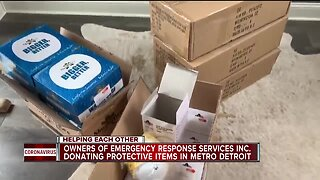 Helping Each Other: Metro Detroit couple donates to first responders