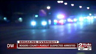 Rogers County pursuit suspect arrested