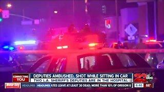 LA Sheriff Deputies ambushed and shot by suspect while inside patrol car