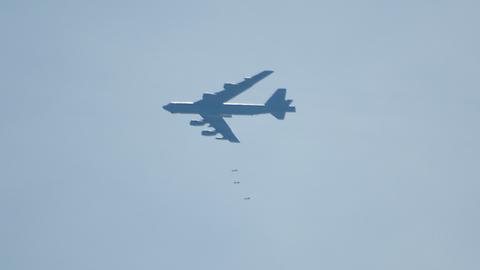B-52 Dropping Bombs on Oklahoma